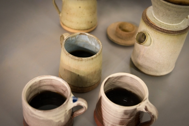 Pour over coffee pot filter