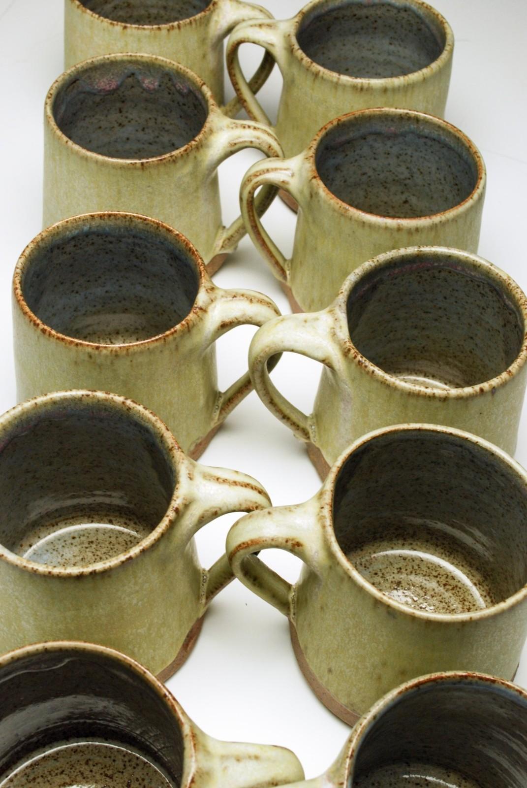 Set of Stoneware Mugs