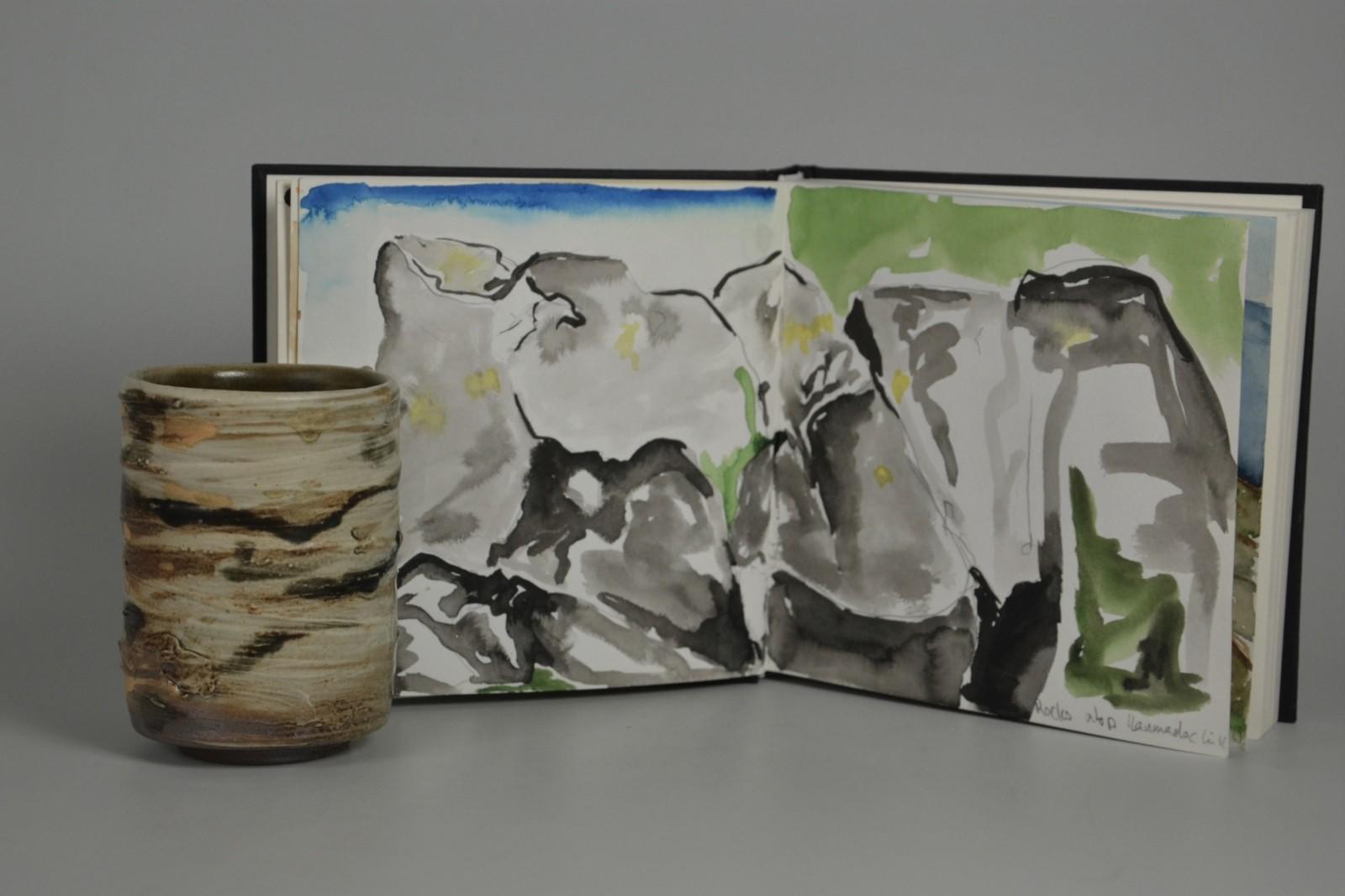 Teetasse keramik aquarell gemälde