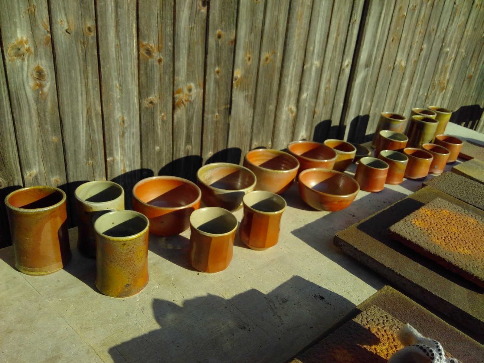 Ceramic Beakers in the Sun