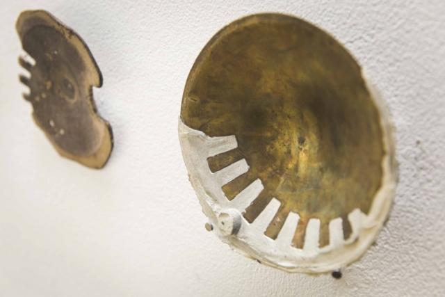 Pewter und Bronze bowl schüssel