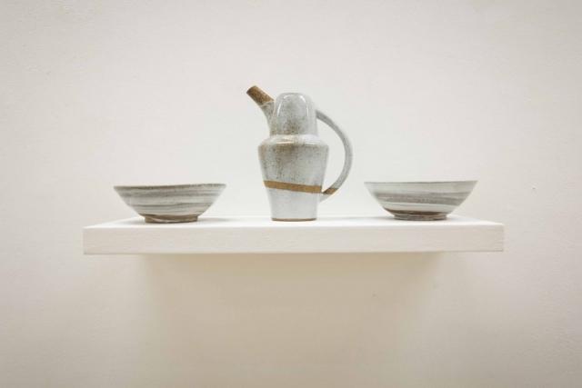 Krug und Zwei Schüsseln, keramik, handgemacht, ceramics, white