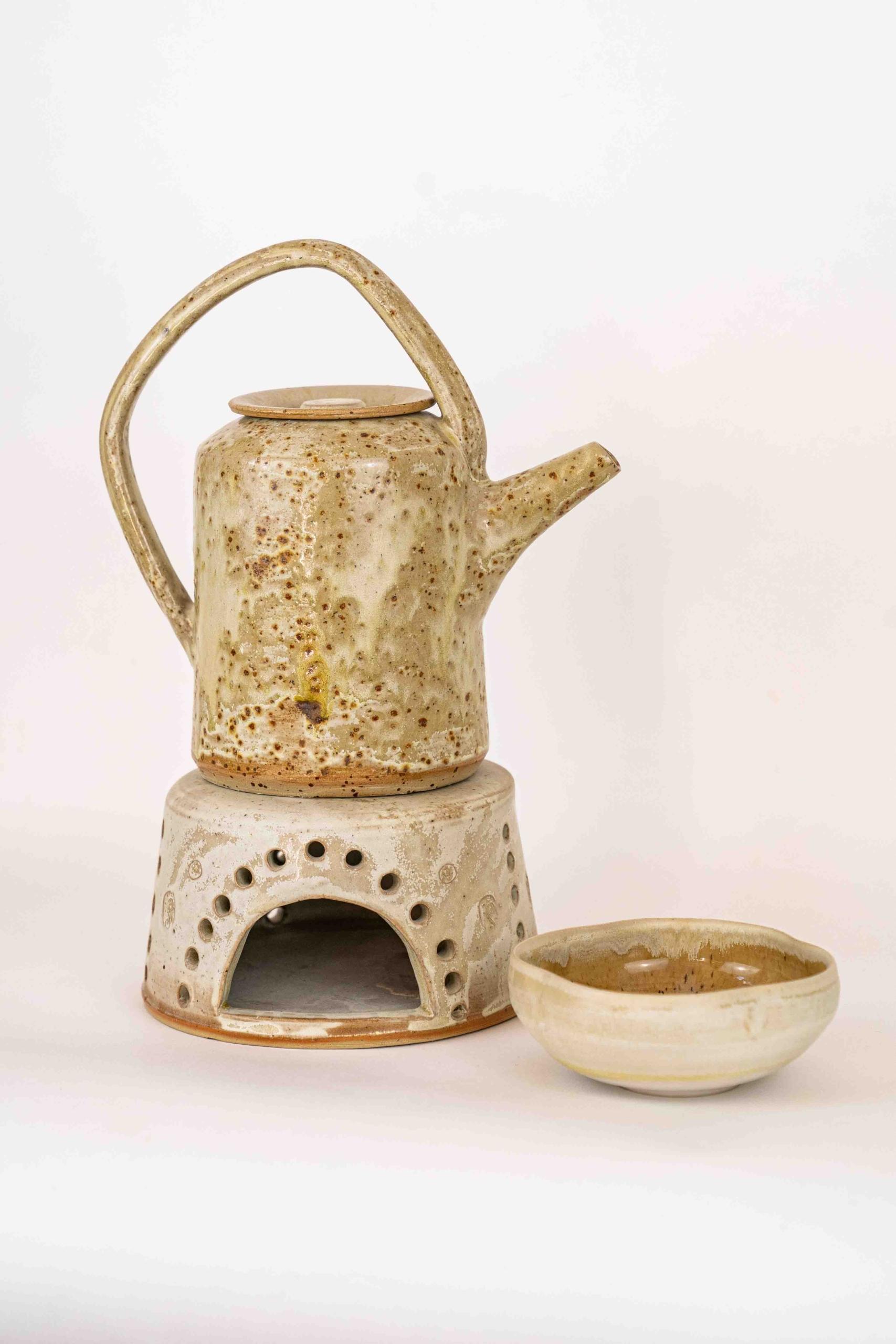 Teekanne, Stövchen, Teeschale
